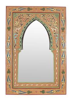 Large Ornate Round Moroccan Mirror with diamonds insert & legs Home, Furniture & DIY White Henna