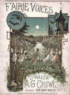 Fairy Voices, Waltz, by A G Crowe, Metzler & Co., London. Antique sheet music