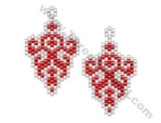 Fancy Abstract Earring Bead Pattern By ThreadABead