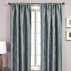 Softline Home Fashions Lula Rod Pocket Panel in Federal Blue