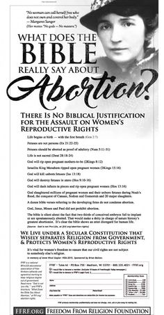 Freethinkers Refute Bible Based Opposition To Abortion