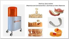 """""""EnvisionTEC is a Leader in Dental 3D Printing Solutions.""""  Clinicians and labs are using EnvisionTEC desktop and production dental 3D printers for the industry's most accurate models, crowns, dentures and more.  #3Dprinting #Dental #3Dprinters #envisiontec #dentists #orthodontics #dentallabs #3d #crown #dentures"""