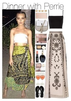 """""""Dinner with Perrie"""" by mrspayne-1d ❤ liked on Polyvore featuring Temperley London, Maison Margiela, Kate Spade, Topshop, Roberto Cavalli, Bobbi Brown Cosmetics, Steve Madden, Essie and Benefit"""