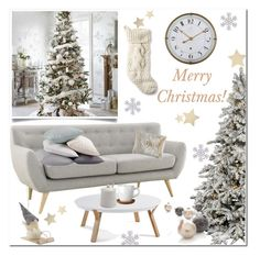 """Merry Christmas!"" by bogira ❤ liked on Polyvore featuring interior, interiors, interior design, home, home decor, interior decorating, L.L.Bean, Höganäs Ceramic, Sur La Table and Coyuchi"