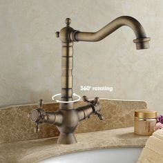 Cheap Faucet Water, Buy Quality Faucet Seats Directly From China Tap Faucet  Suppliers: Antique Brass Dual Handle Basin Faucet, Bathroom Faucet ,basin  Mixer ...