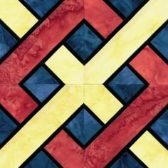 Quilt Patterns Free Quilt Patterns eQuiltPatterns.com: Stained Glass Kentucky Chain Quilt Block