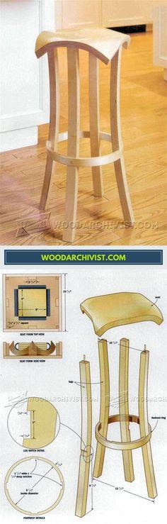 DIY Bar Stools - Furniture Plans and Projects   WoodArchivist.com