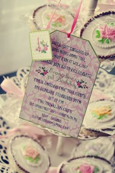 love this invitation for a tea party