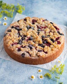 Sommarkladdkaka - My Kitchen Stories Kitchen Stories, Fika, You Are My Sunshine, Camembert Cheese, Cheesecake, Cookies, Desserts, Recipes, Crack Crackers