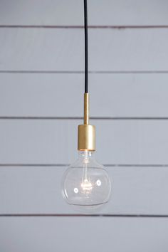 Brass Pendant Light - Mid Century by IndLights on Etsy https://www.etsy.com/listing/219963118/brass-pendant-light-mid-century
