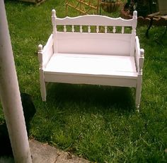Website about making benches from old bed frames