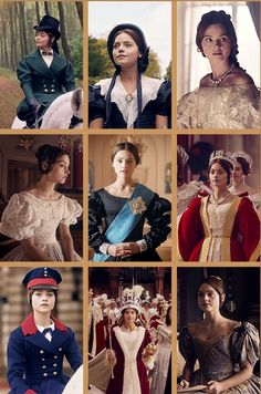 "Victoria's costumes in ""Doll 123."""
