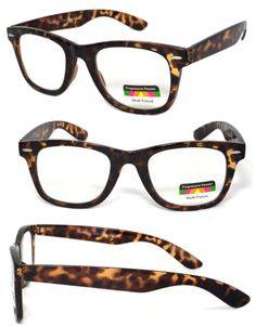 9056aed5682 Details about Progressive Reading Glasses 3 Power Strengths in 1 Reader  Retro Square Frame