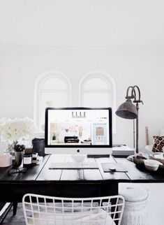 Home accessory: brown desk bedroom wood wooden desk hipster black and white