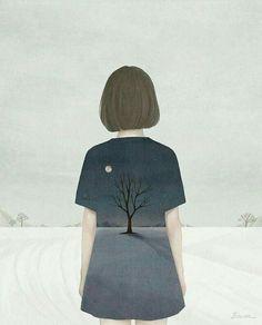 Read Fan Art Lonely Girl from the story Novel Wattpad, Alone Photography, Dark Art Illustrations, Lonely Girl, Girly Drawings, Cute Girl Wallpaper, Samurai Art, Girl Sketch, Illustration Girl