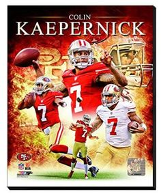 Colin Kaepernick Canvas Framed Over With 2 Inches Stretcher Bars-Ready To Hang- Awesome & Beautiful