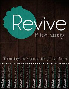 Revive Bible Study Flyer