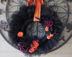 Tulle Halloween wreath