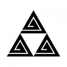 三つ鱗形稲妻(みつうろこがたいなづま) 稲妻紋