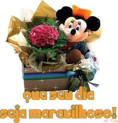 - GIFS DE BOM DIA. Good Morning Quotes, Minnie Mouse, Teddy Bear, Halloween, Disney Characters, Toys, Gifts, Pine, Good Morning Gif