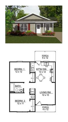 Tiny House Plan  Total Living Area  Sq Ft  Bedrooms And