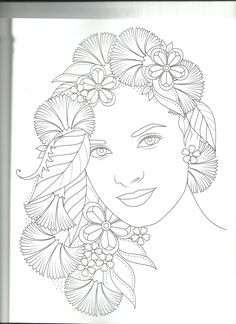 Sailor Moon Coloring Pages, Mandala Coloring Pages, Colouring Pages, Coloring Books, Diy Hair Bun, People Coloring Pages, Mermaid Sketch, Printable Adult Coloring Pages, Beauty Art