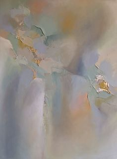 Abstract painting with gold leaf by artist Blaire wheeler www.blairewheelerart.com