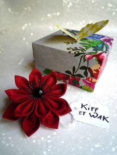 fleur en tissu,fleur en taffetas,fait main,kiff et wak,sur mesure,création…