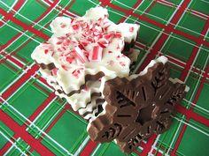 Snowflake Peppermint Bark - bakedbyrachel.com
