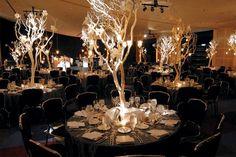 ramas, centros de mesa, boda