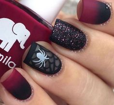Nightmare before Christmas nails! Are you looking for easy Halloween nail art designs for October for Halloween party? See our collection full of easy Halloween nail art designs ideas and get inspired! Halloween Nail Designs, Halloween Nail Art, Halloween Halloween, Holloween Nails, Scream Halloween, Halloween Costumes, Hot Nails, Hair And Nails, Holiday Nails