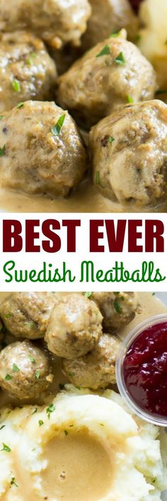 The best Swedish meatballs are made from scratch with an easy homemade gravy. Freezer friendly! via @culinaryhill