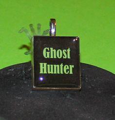Ghost hunter Scrabble Tile Pendant