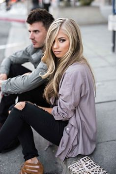 Hair Color Trends  2017/ 2018   Highlights :  express-jessakae street style couples fashion couples style jessakae #expres