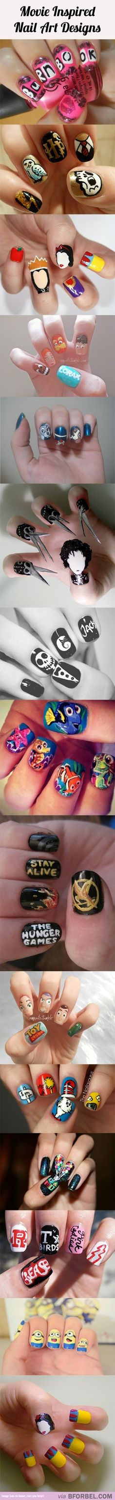 15 Movie Inspired Nail Art Designs…