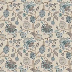 Warwick Fabrics : TIMELESS GRACE, Colour DUCK EGG
