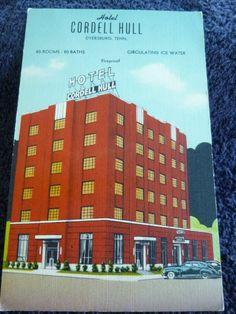 The Hotel Cordell Hull in Dyersburg, Tn Tennessee PC Dyersburg Tennessee, Family History, 1940s, The Past, Real Estate, Gratitude, Water, Studios, Teacher