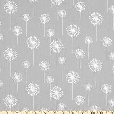 tissu dandelion gris