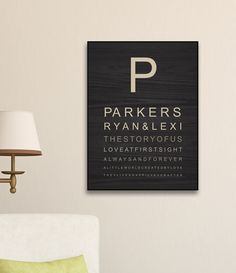 Make a simple yet sophisticated statement in your home with this piece of art and make it personal by adding names, date and sentiment. The perfect gift for any occasion.