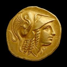 Gold stater of Alexander the Great from the Amphipolis mint - #macedonian #Greek king of the ancient Greek kingdom of #macedonia