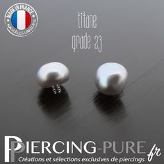 Microdermal Perle naturelle grise - Piercing-Pure Piercings, Creations, Stud Earrings, Pure Products, Jewelry, Colour Gray, Bead, Jewerly, Peircings