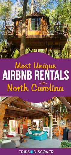 Stay somewhere truly unique in these North Carolina Airbnb rentals - See Pic Ashville North Carolina, Ashville Nc, North Carolina Vacations, South Carolina, Charlotte North Carolina, North Carolina Camping, Roanoke Rapids North Carolina, Highlands North Carolina, North Carolina Vacation Rentals