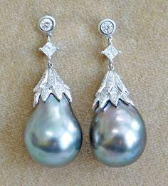 Picture Pearl Jewelry, Pearl Earrings, Drop Earrings, Sea Pearls, Shinee, Bling Bling, Diamonds, Necklaces, Jewellery