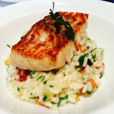 Corvina with spring risotto - Corvina - Fish Recipes 1lb Meatloaf Recipe, Meat Loaf Recipe Easy, Meatloaf Recipes, Easy Meatloaf, Easy Fish Recipes, Healthy Recipes, Healthy Meals, Healthy Food, Corvina Fish Recipes