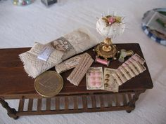 vintage haberdashery display
