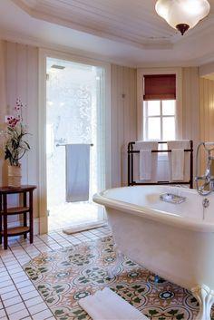 Bathroom. Ocean Suite, Beach Front At Heritage Le Telfair Golf & Spa resort #Mauritius