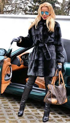 mink furs - limited offer ! marco gianotti saga mink fur coat with belt