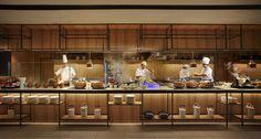 Bar Restaurant Design, Thai Restaurant, Restaurant Kitchen, Hotel Buffet, Architecture Restaurant, Design Café, Counter Design, Cafe Bar, Gastronomia