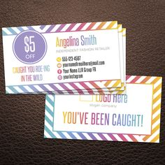 Roeing in the wild cards, business cards, You've been caught card, Custom wild card, LuLa Retailer business, Roe-ing in the wild card #4 by AlexProDesignB2B ...
