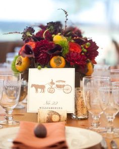 """See the """"Iconic Moments"""" in our Table Numbers from Real Weddings gallery"""